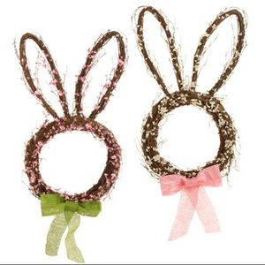 NWT bunny rabbit wreath Easter Spring Summer